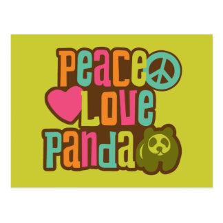 Panda del amor de la paz postal