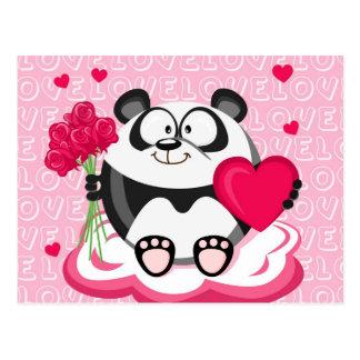 Panda del amor de la serie del círculo postales