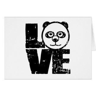 Panda del amor tarjeta de felicitación