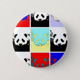 Panda del arte pop chapa redonda de 5 cm