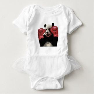 Panda del boxeo body para bebé