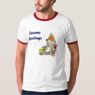 Panda del navidad camisetas