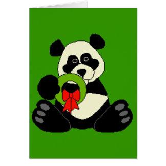 Panda del navidad tarjeta de felicitación