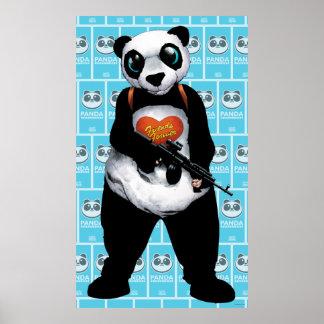 Panda del pelotón el | del suicidio póster
