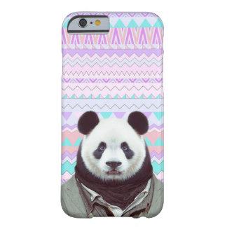 Panda divertida con la caja tribal en colores funda barely there iPhone 6