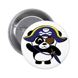 Panda en traje del pirata de los azules marinos pin