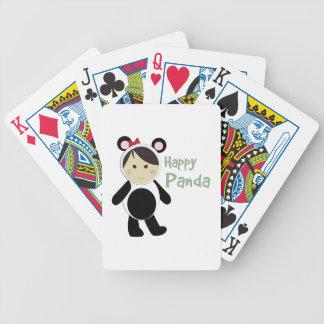 Panda feliz barajas de cartas