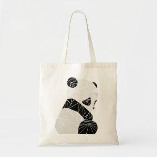 Panda geométrica bolso de tela