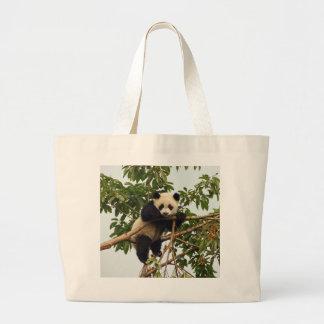 Panda gigante joven bolsa tela grande