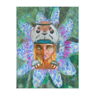 Panda girl impresión de lienzo