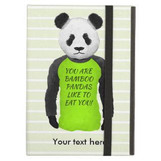 Panda hambrienta que lleva una camiseta divertida