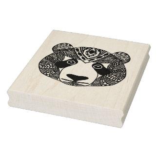 Panda inspirada sello de caucho