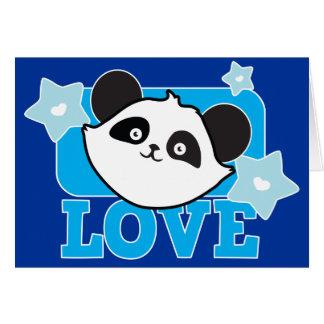¡Panda Kawaii lindo estupendo del AMOR! NP Tarjeta De Felicitación