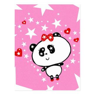 Panda linda de la moda de las pandas de Harajuku Postal