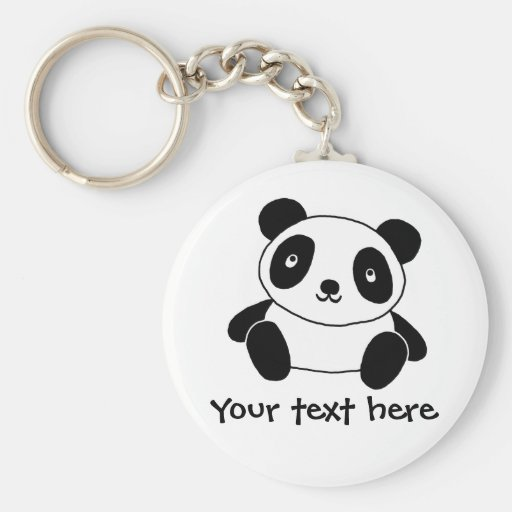 Panda linda llavero