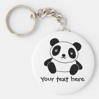 Panda linda llavero redondo tipo chapa