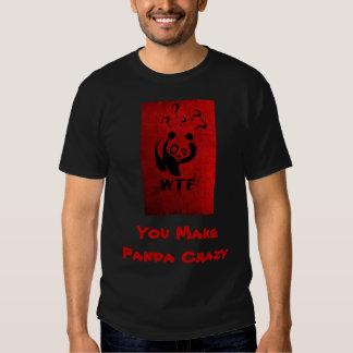 Panda loca camisas