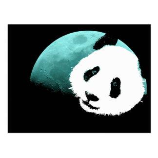 panda por la luna postal