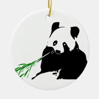 Panda que come el bambú ornamentos de reyes magos