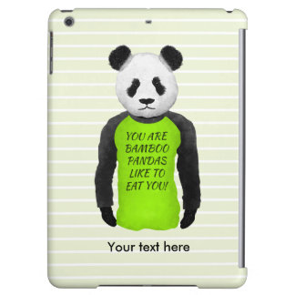 Panda que lleva una camiseta divertida