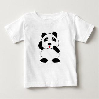 Panda rechoncha Cub - camiseta fina del jersey del