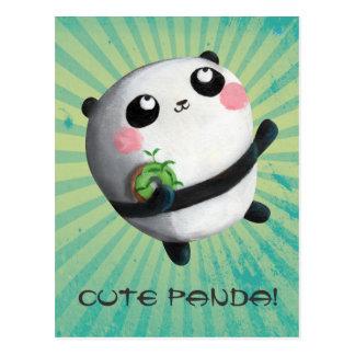 Panda redonda linda postal