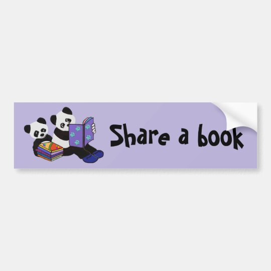 Panda Storytime Pegatina Para Coche