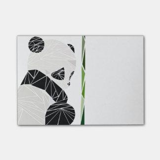 Panda triste geométrica notas post-it®