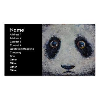 Panda triste plantilla de tarjeta de negocio