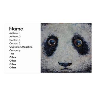 Panda triste plantillas de tarjetas de visita