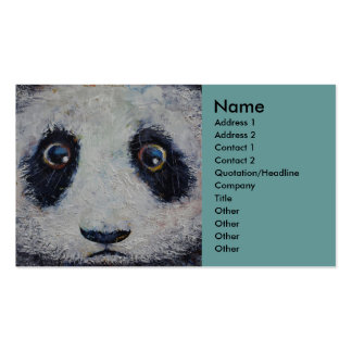 Panda triste plantilla de tarjeta personal