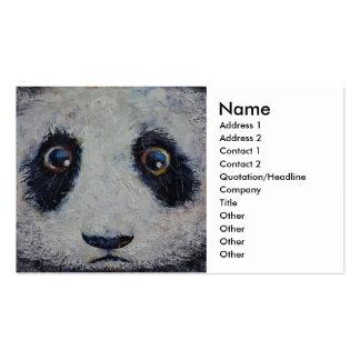 Panda triste tarjeta de negocio