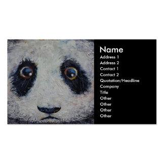 Panda triste tarjetas de visita