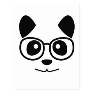 Panda y vidrios postal
