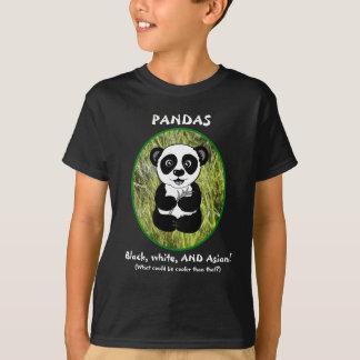 Pandas: ¡Negro, blanco, Y asiático! Camiseta