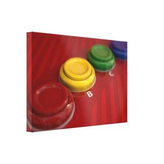 Panel de control de la máquina de la arcada impresión en lienzo