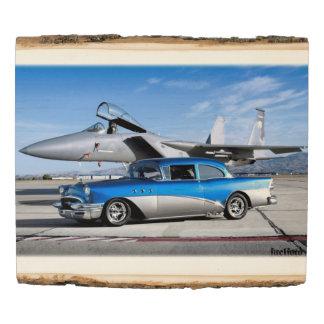 Panel De Madera Avión de combate clásico especial 1955 del coche