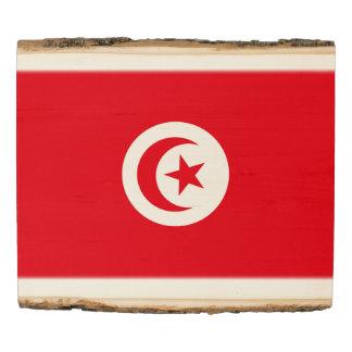 Panel De Madera Bandera de Túnez