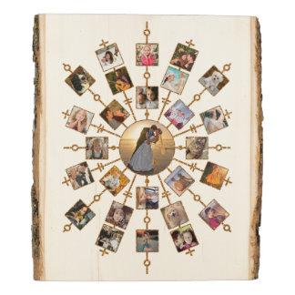 Panel De Madera Círculo bonito del oro de la imagen del collage 27