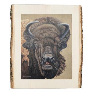 Panel De Madera Consumición del búfalo
