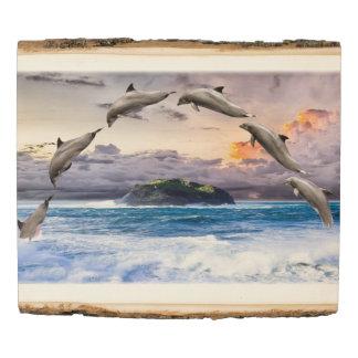 Panel De Madera Delfínes