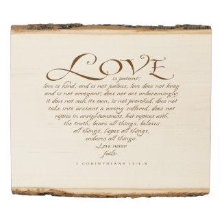 Panel De Madera El amor es