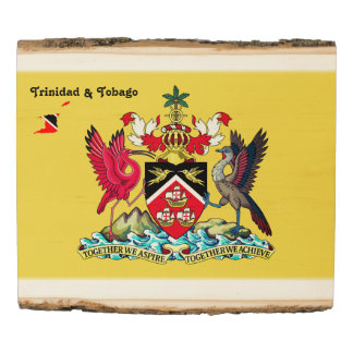 Panel De Madera Escudo de armas de Trinidad and Tobago
