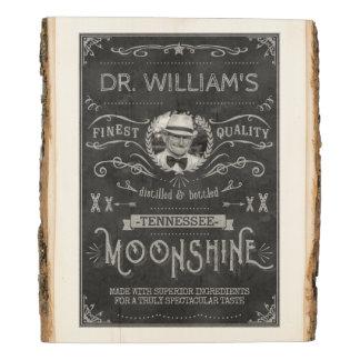 Panel De Madera Gris de encargo del vintage de la medicina del