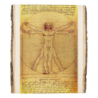 Panel De Madera Hombre de Vitruvian de Leonardo da Vinci
