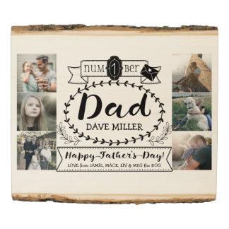 Panel De Madera Imágenes del papá del número 1 del día de padre de
