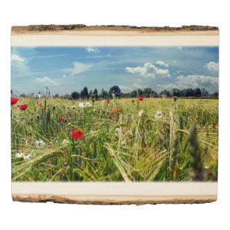 Panel De Madera Jardín de la escena de las flores salvajes del