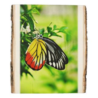 Panel De Madera Mariposa en las flores #4