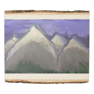 Panel De Madera Montañas de Colorado (acuarela abstracta)