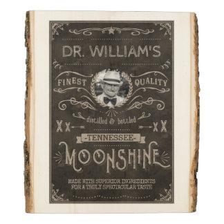 Panel De Madera Personalizado Brown del vintage de la medicina del
